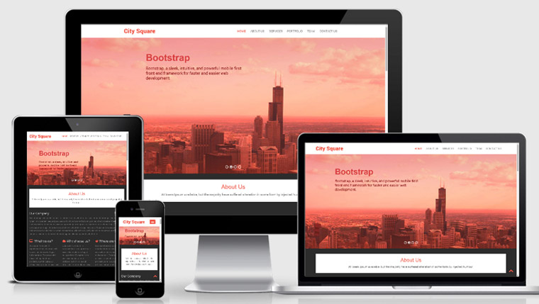 City Square Free Bootstrap Web Template