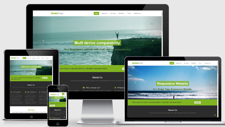 free mobile website template design with high quality
