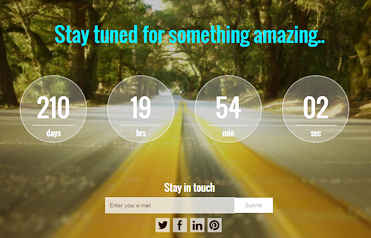 Coming Soon Landing Page Template