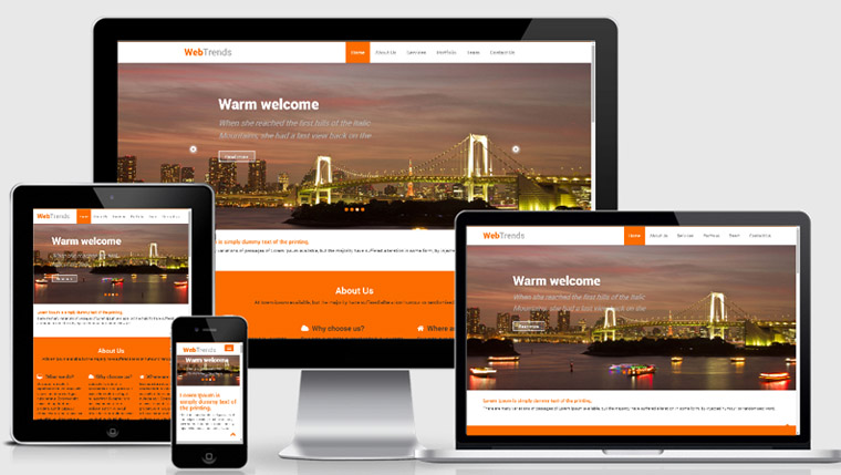 Free Bootstrap Responsive Template