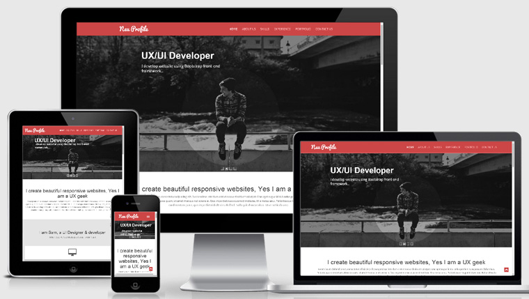 Profile Responsive Web Template  Profile Templates