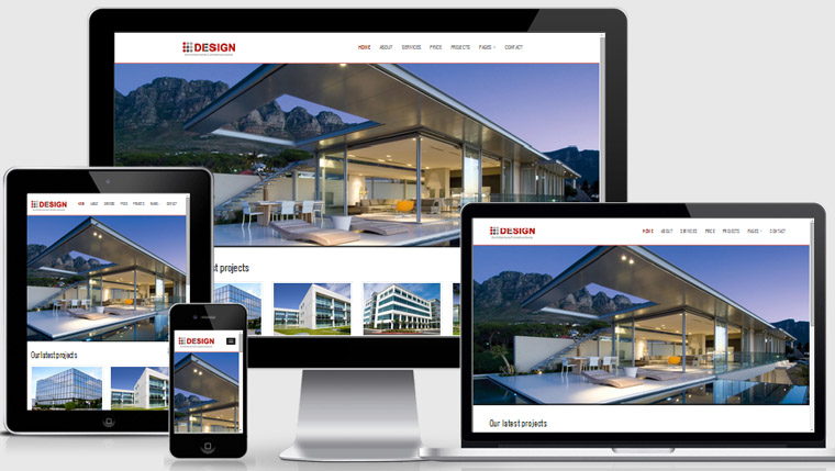 Real estate website templates free download webthemez for Free responsive website templates