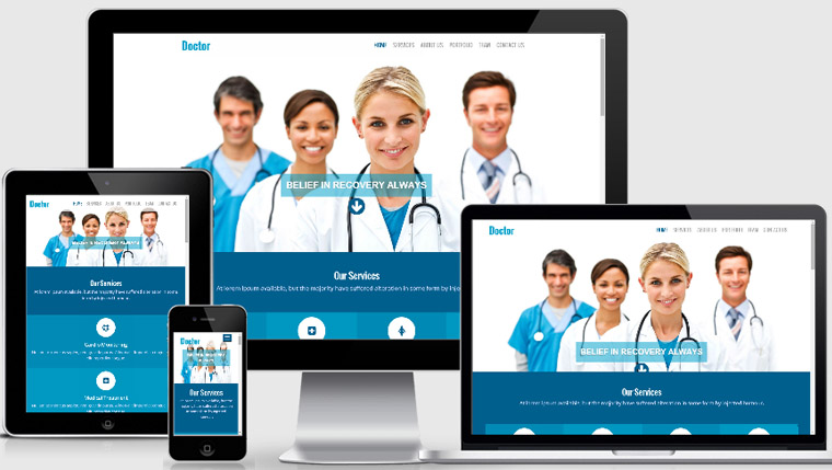 Doctor Free Responsive Website Template