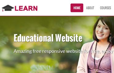 Learn Educational Free Responsive website