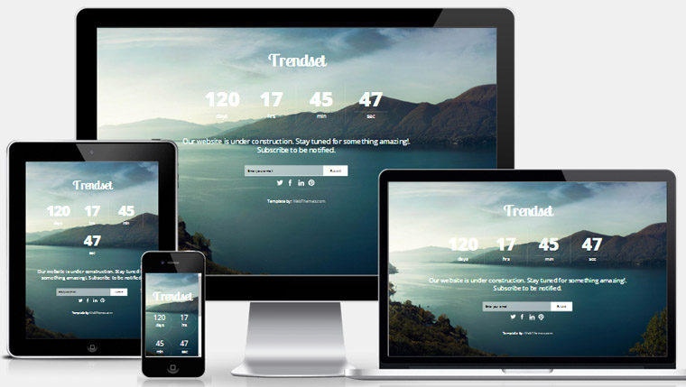 Coming soon responsive web template webthemez for Simple under construction html template