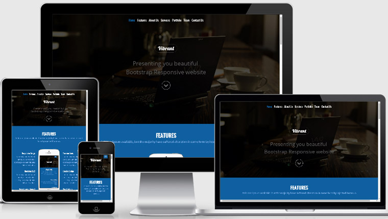 Responsive website template free webthemez for Interior design responsive website templates edge free download