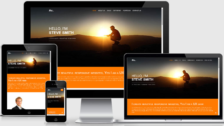 free portfolio responsive website template personal resume templates download one page web