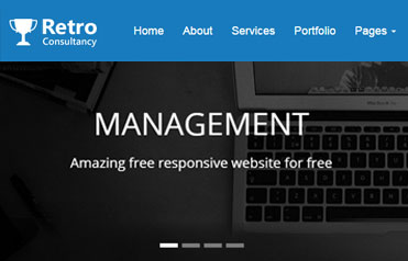 Retro Free Responsive Website Template