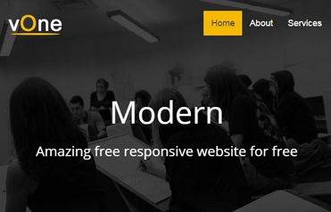 vone Free Responsive Website Template
