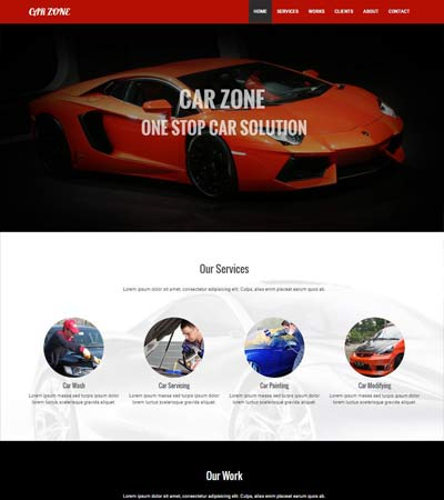 car zone website free template