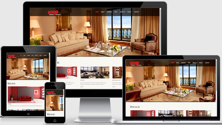 Interior design website template free download webthemez for Interior design layout templates