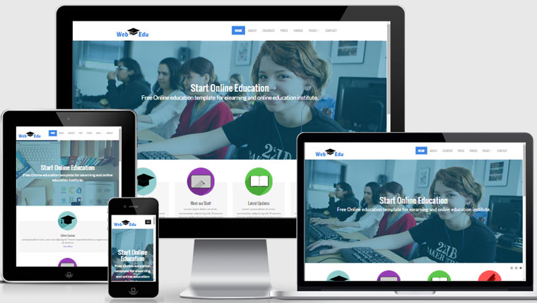 Latest Free Education Website Template | webthemez