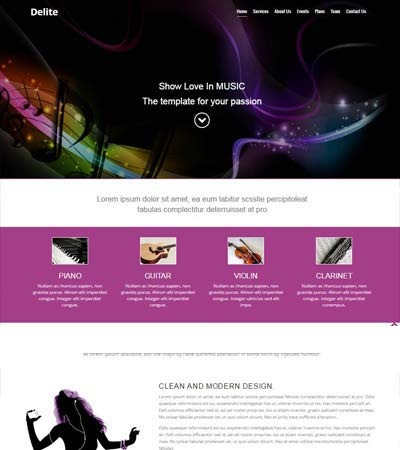 Best Free Music Website Template HTML5 Bootstrap 2019