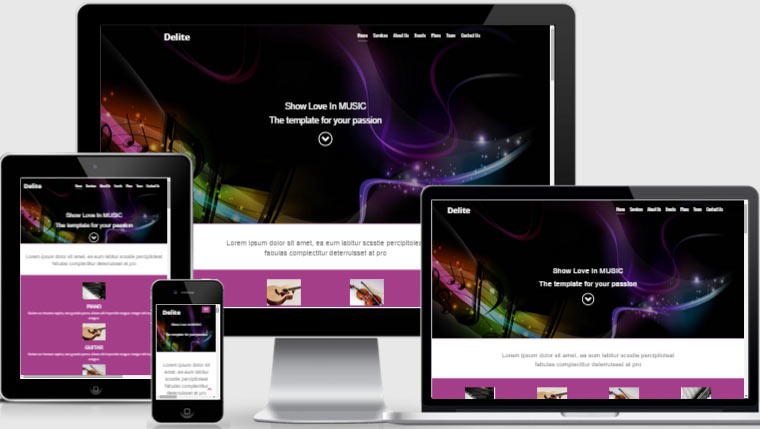 Music Website Template Design And Develop By Webthemez - Music website templates