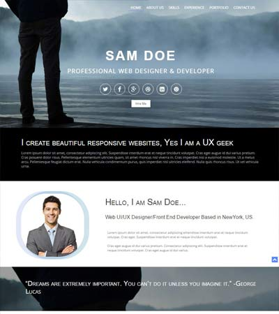 Portfolio Website Template Free