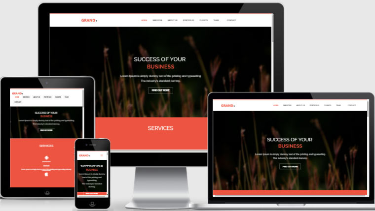 Personal Website Template Bootstrap
