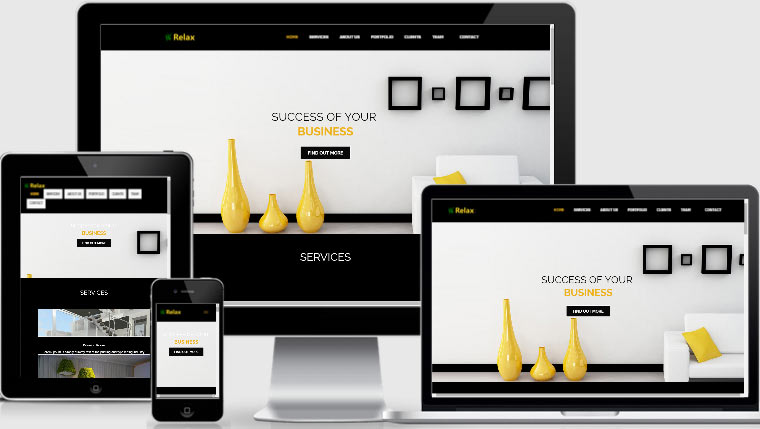 Best interior design websites download free webthemez for Free responsive website templates