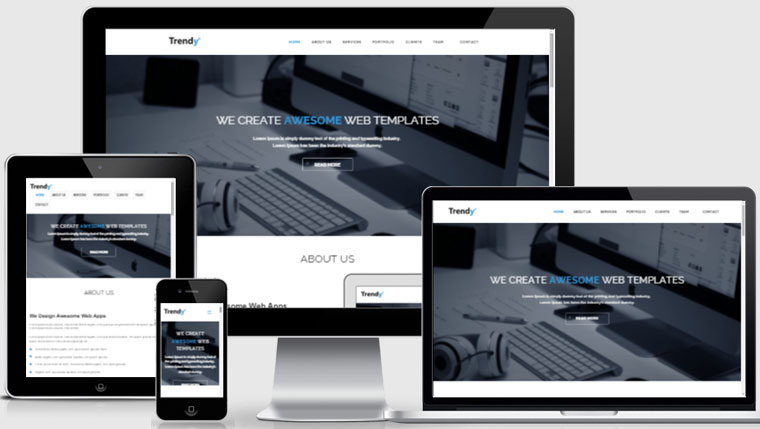 Free responsive website template webthemez for Free responsive website templates