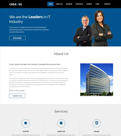 Free website templates and bootstrap themes webthemez creative bootstrap business template wajeb Gallery