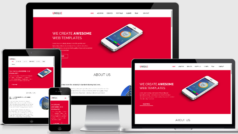 Unique Html5 Responsive Template Webthemez