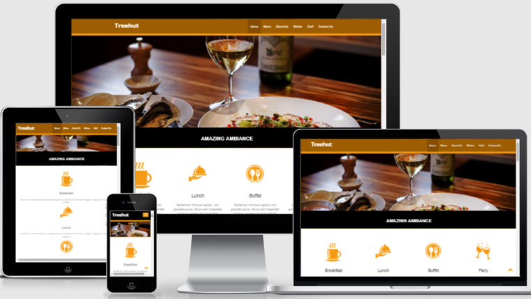 Free restaurant template hotel web theme for Free bootstrap website templates