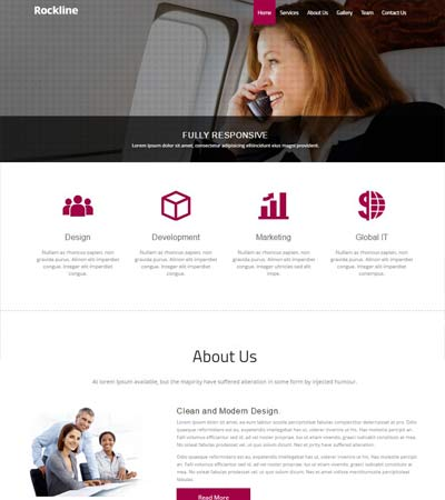 Simple HTML Template