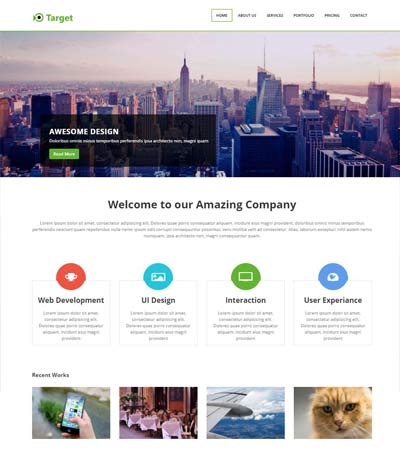 responsive web html template