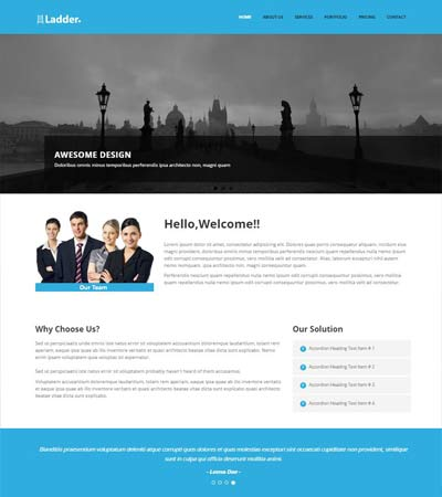 free html responsive template