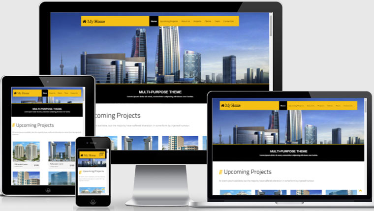 free bootstrap template real estate download now