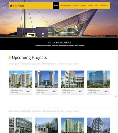 Free Bootstrap Template Real Estate