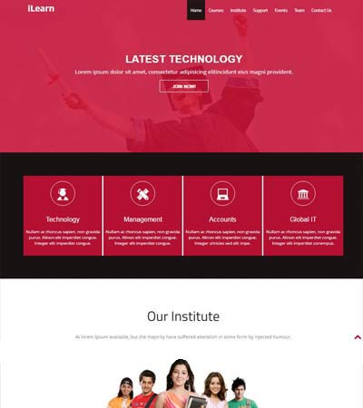 Free Education HTML5 Template