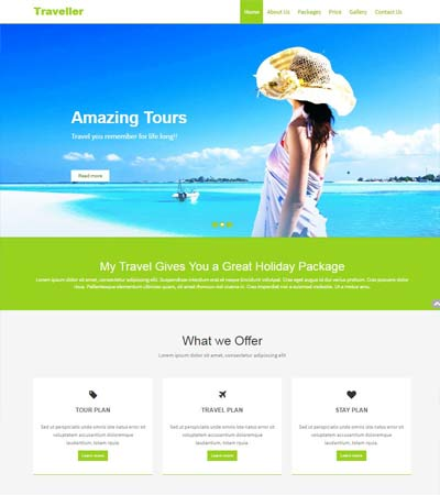 Free Travel Website Template