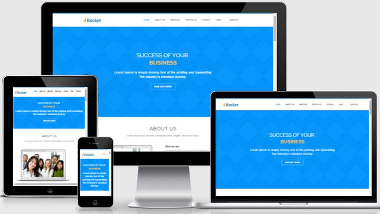 Rocket business bootstrap free responsive web theme flashek Images