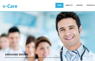 vCare-free-html5-template-hospital-websites
