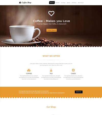 Coffee Shop Website Free Download