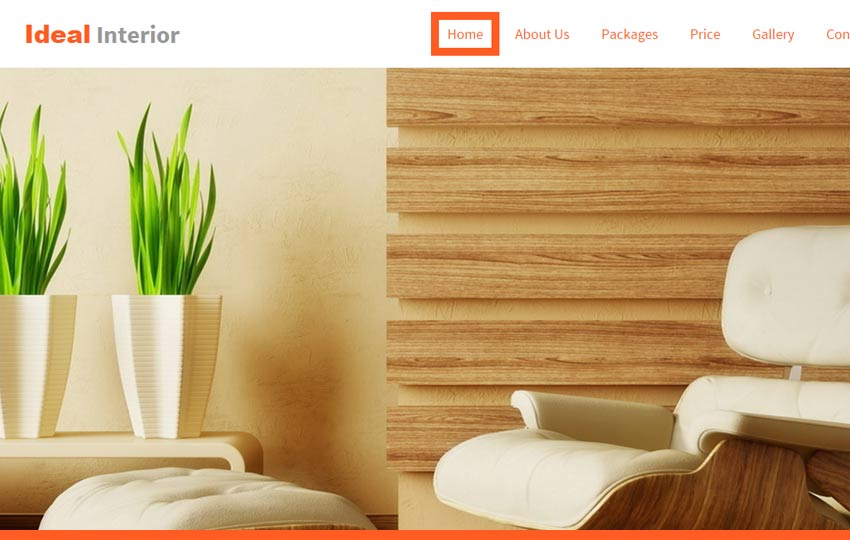 Beautiful Interior Design Bootstrap Website Template