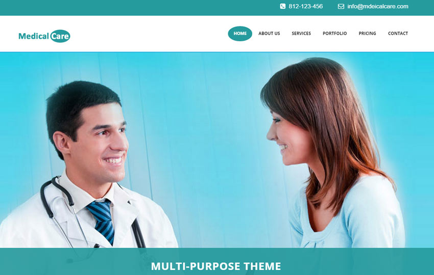 Medical Hospital Web Template For Doctor - WebThemez