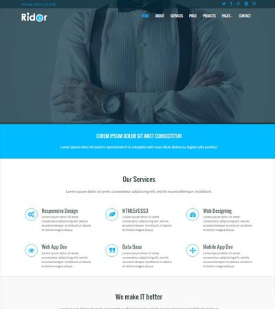 Simple Website Template Free Download Webthemez