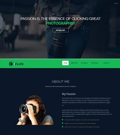IClick Photography Website Template WebThemez - Free photography website templates