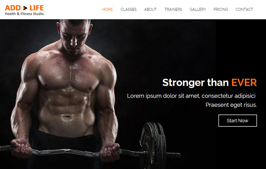 Awesome Health Fitness Free Bootstrap Template In Fitness Templates Free
