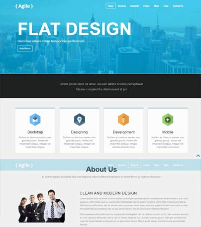 Agency Free Bootstrap Web Template