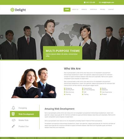 free corporate web template