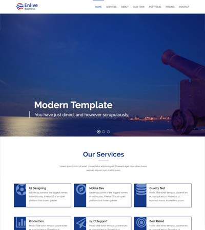 enlive corporate html5 bootstrap web template
