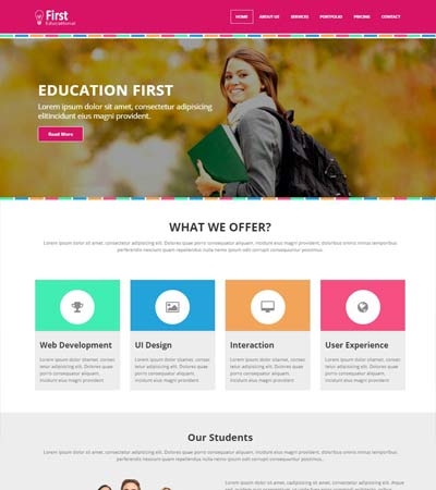 Educational Free Web Template