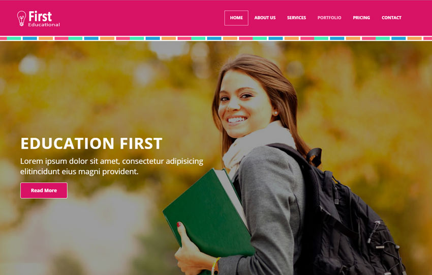 First Educational Free HTML5 Bootstrap Web Template
