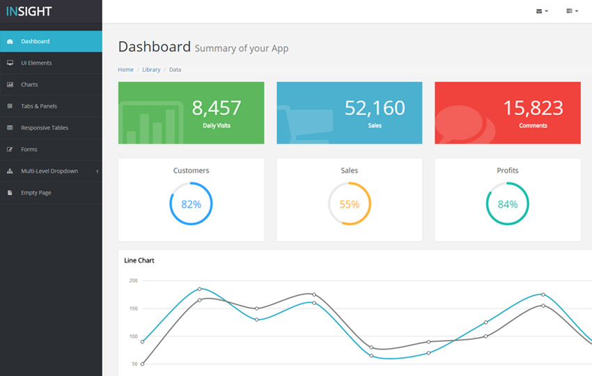 simple html admin template - latest free bootstrap admin template webthemez