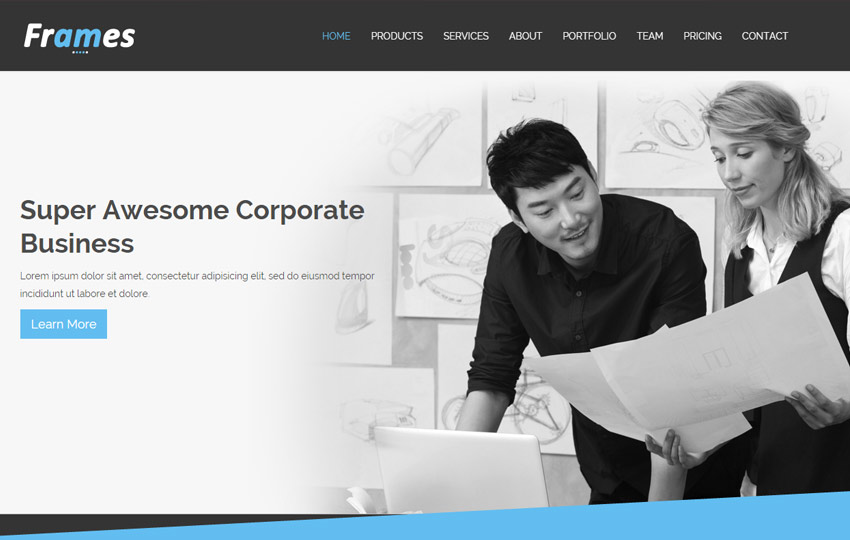 Latest corporate free html5 template webthemez corporate free html5 template wajeb Gallery