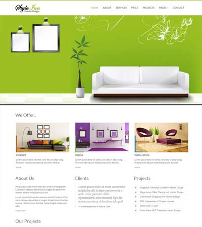 Ordinaire StyleInn Bootstrap Interior Design Website Template