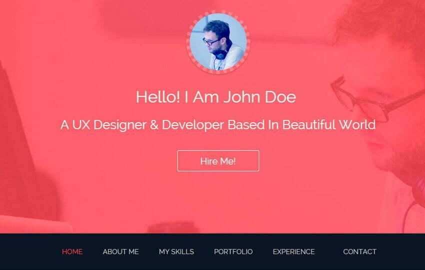 22 Latest Free HTML Resume & CV Website Templates 2019