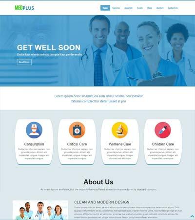 Medical Hospital Website Templates Free Download